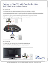 "Image and link to ""Two TVs with One Set Top Box Guide"" PDF."