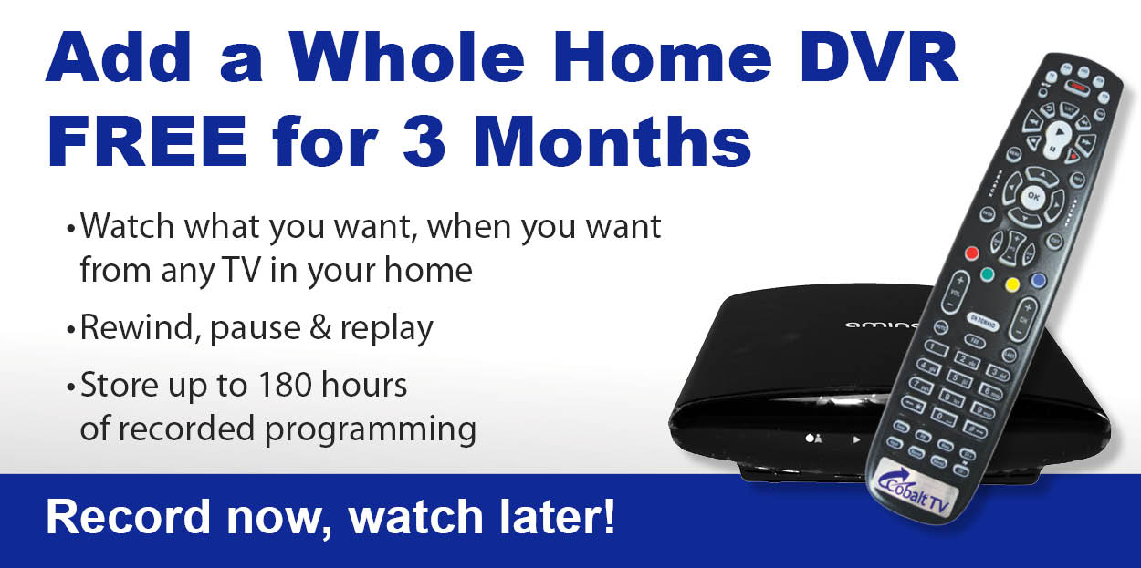 Whole Home DVR 3 months free promo graphic