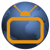 MY TV's app icon of TV over world.