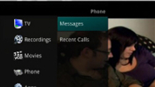 "TV screenshot of ""Phone Menu""."