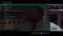 "TV screenshot of ""Search History""."