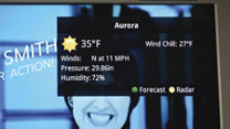 TV screenshot of weather in Aurora, NE.