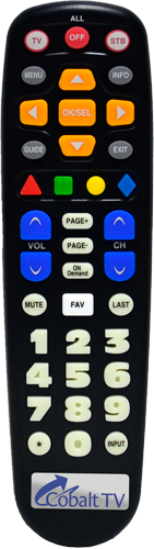 Image of Cobalt TV Big Button Remote Control.