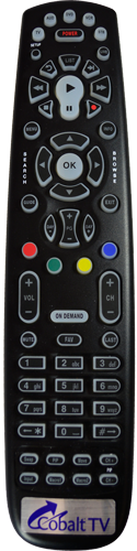 Image of Cobalt TV Remote Control.